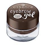 essence eyebrow gel COLOUR & SHAPE, Augenbrauen, Nr. 01 brown, braun, verdichtend, definierend, langanhaltend, matt, vegan, Nanopartikel frei, ohne Parfüm (3g)