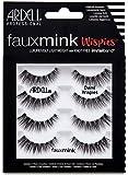 ARDELL Faux Mink Demi Wispies 4 Pack, Wimpern aus Synthetikhaar, vegan, schwarz, black (ohne Wimpernkleber) ultraleicht, flexibel und wiederverwendbar 25 g
