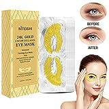 Eye Mask, Augenpads Anti Aging Pads hyaluron Collagen Maske-eye pads Kollagen Augenpads Gel Wasserlösliches mit Pearl powder und Hyaluronsäure für augenringe, Falten, Feine Linien, 15 Paare