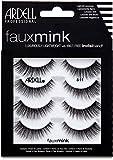 ARDELL Faux Mink 811 4 Pack, Wimpern aus Synthetikhaar, vegan, schwarz, black (ohne Wimpernkleber) ultraleicht, flexibel und wiederverwendbar 25 g