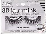 ARDELL Professional 3D Faux Mink 853, Wimpern aus Synthetikhaar, vegan, schwarz, black (ohne Wimpernkleber) ultraleicht, flexibel und wiederverwendbar