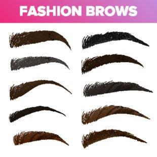 Du kannst Deine Augenbrauen in Braun, Schwarz und Blond färben.