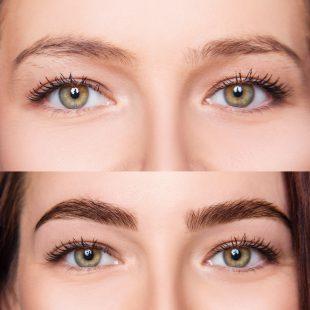 Augenbrauen Serum Test Vorher Nachher