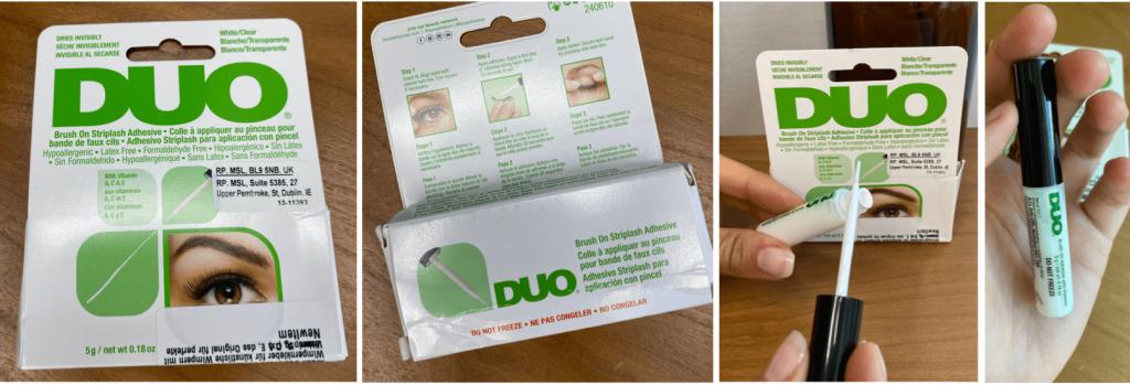Im Vergleich der Wimpernkleber für ein Wimpernband schneidet der Ardell DUO Brush sehr gut ab.