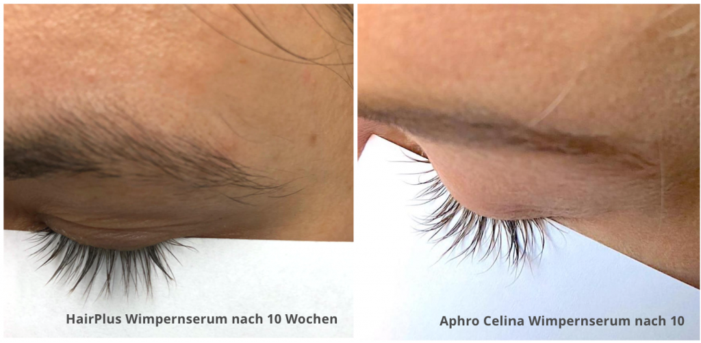 Wimpernserum Test Testsieger HairPlus Wimpernserum &  Aphro Celina Wimpernserum