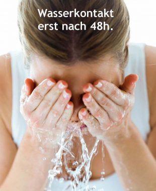 Wasserkontakt nach Wimpernverlängerung vermeiden
